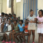 Girls from the orphanage in Port au Prince