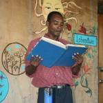 Rosebert doing the reading at Mass