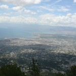"""View of Port au Prince from the """"Lookout"""""""
