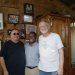 Fr. Gerry, Ralph, and Jean Baptise at Jean Baptise's house