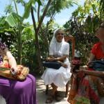 Sitting at Jean Baptise's house: Tanya, Sr. Yannik, and Ann