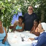 Sr. Yannik, Fr. Gerry, Beatriz, Fabiana, and Rauselaure.
