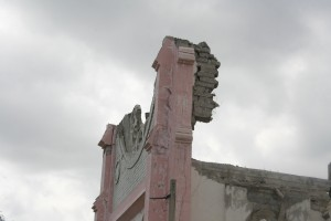 Earthquake damage ( 2010) at the Cathedral downtown