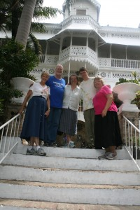 Our group at Hotel Oloffson